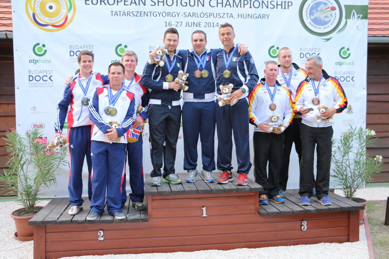 Superior winners in team Men Double Trap competitions