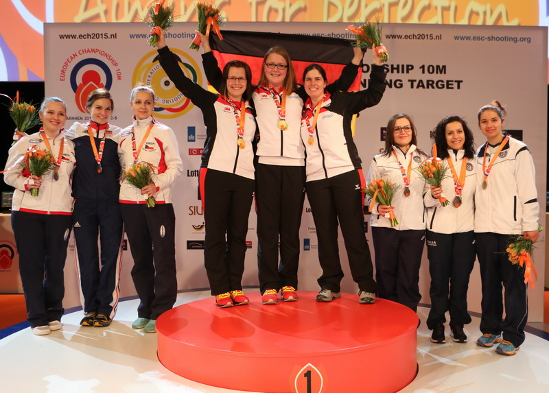 Germany dominated in Air Rifle Women