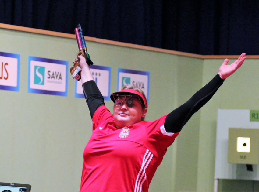 Zorana Arunovic did what she had planned to do in the Air Pistol Women event