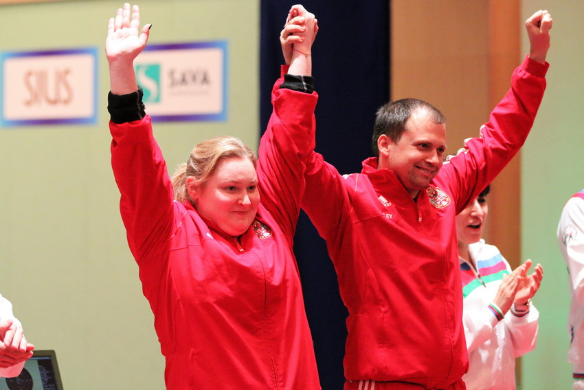 Serbia won the Pistol Mixed event