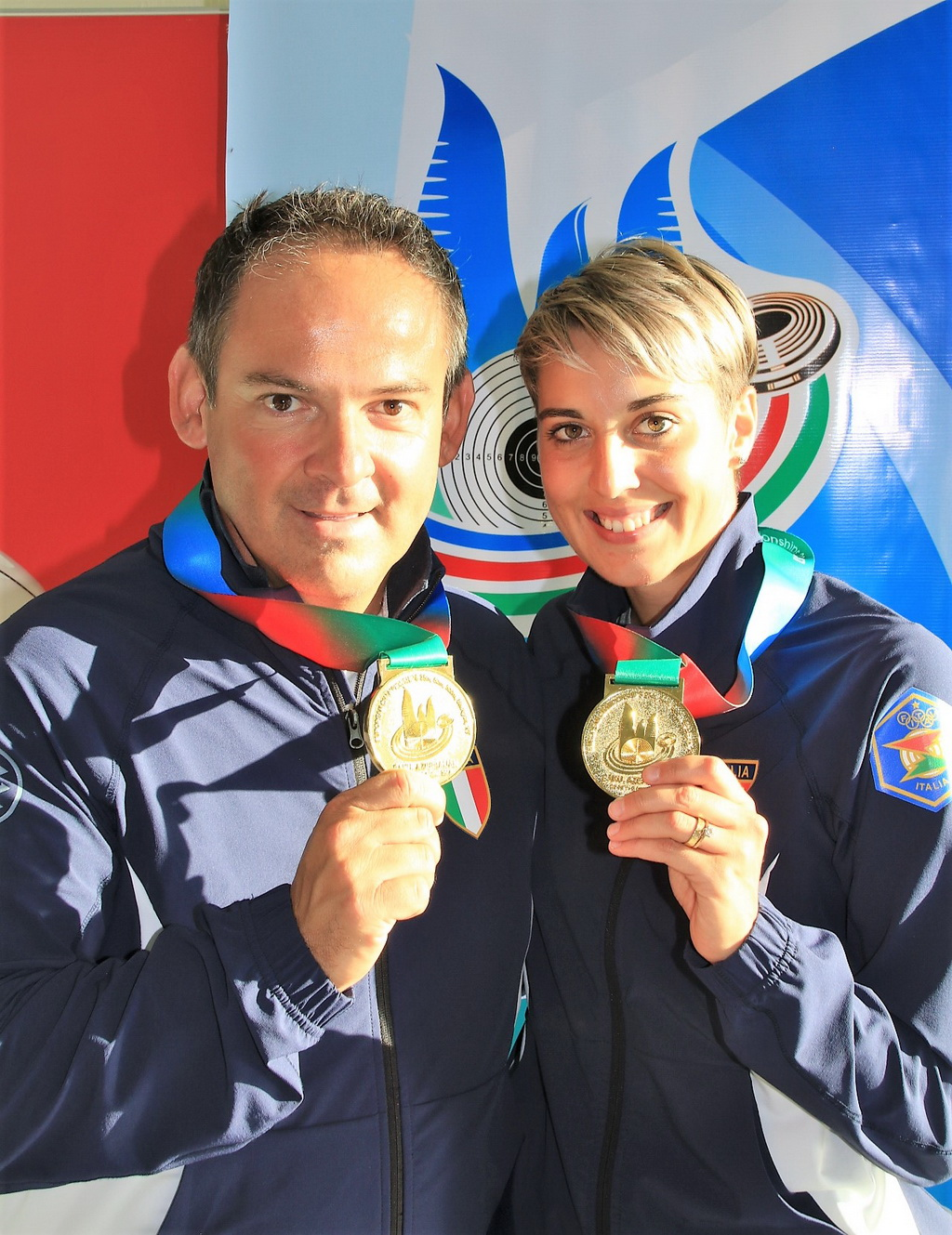 Italy dominated in the Trap Mixed Team Competition