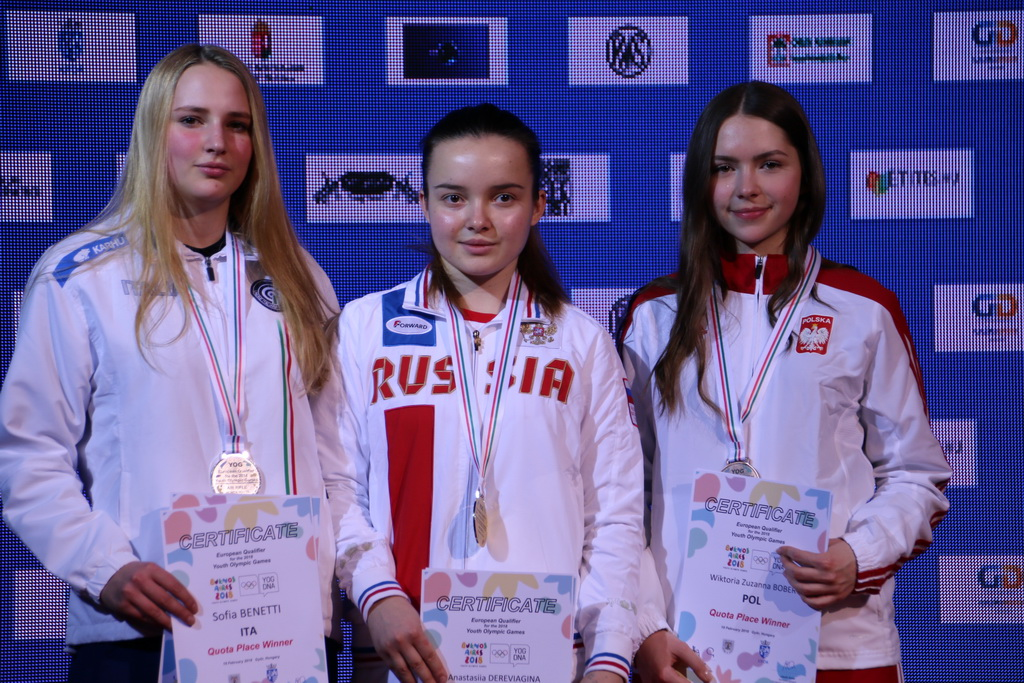 Anastasiia Dereviagina was superior in 10m Air Rifle Women Youth finals