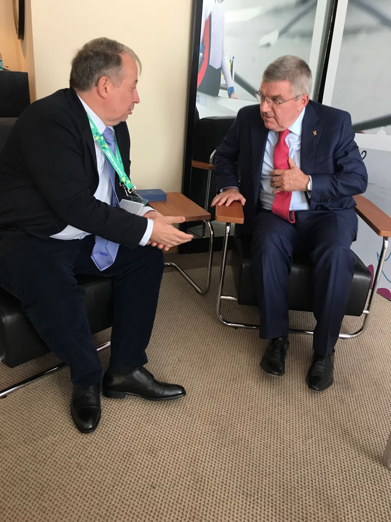 Vladimir Lisin meets Thomas Bach