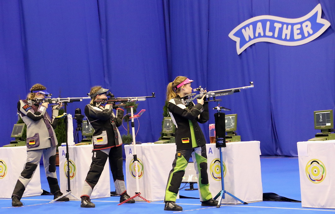 Russian Federation ruled the Team Event 10m Air Rifle Women Junior