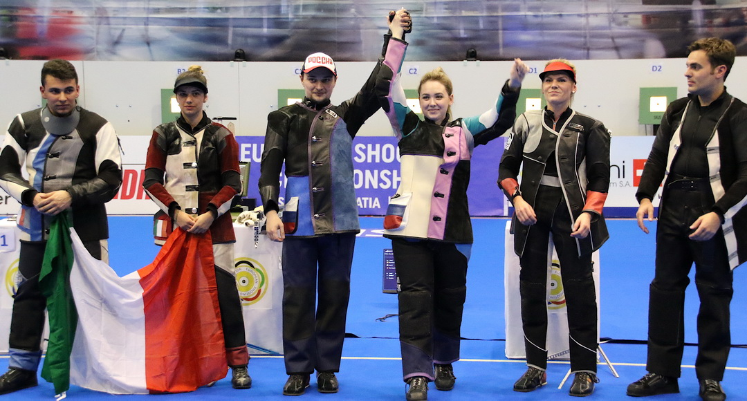 Russian Federation Mixed Team beat European Record holder Italy