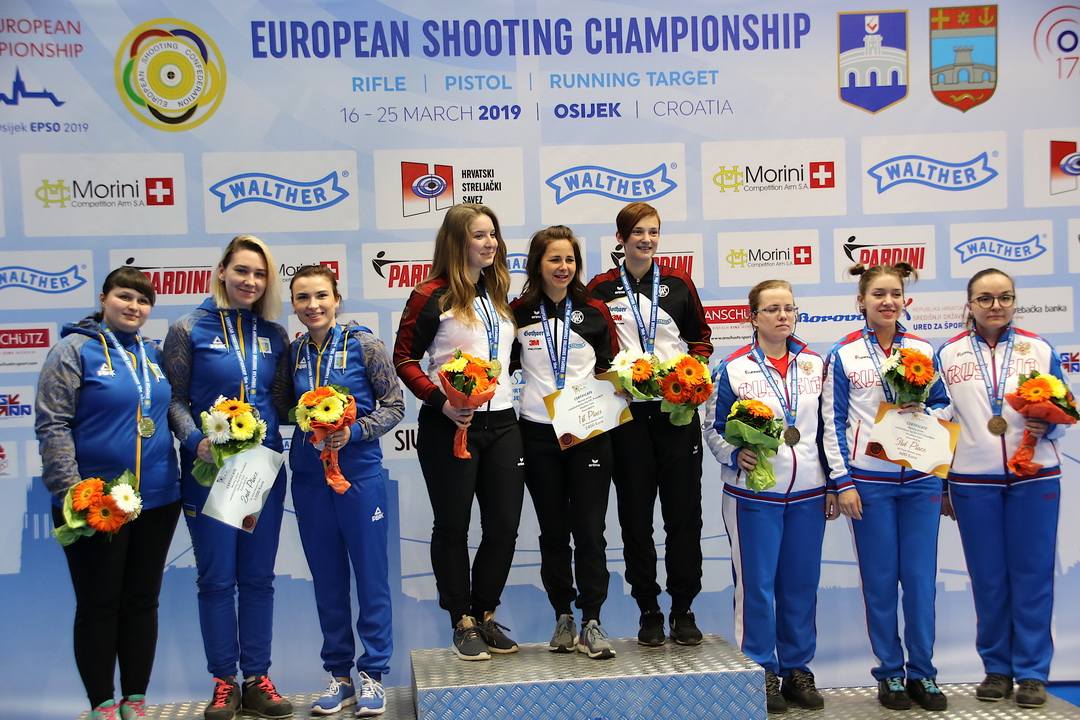 Germany rejoiced from the gold of 10m Air Pistol Women Teams
